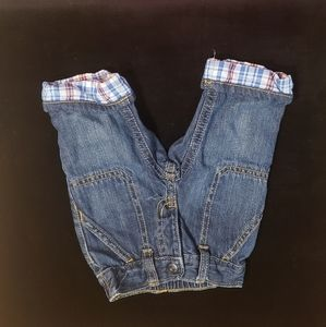 0-3 months. Cuffed blue jeans by Gymboree